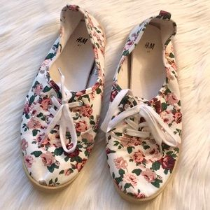 H&M Floral Sneakers - Sz 9.5